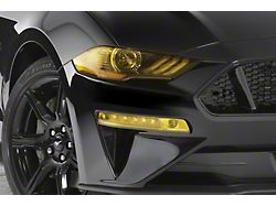 Turn Signal Covers; Transparent Yellow (18-20 GT, EcoBoost)