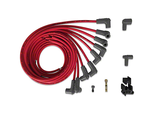 MSD Super Conductor Spark Plug Wire Set; Red (79-94 V8)
