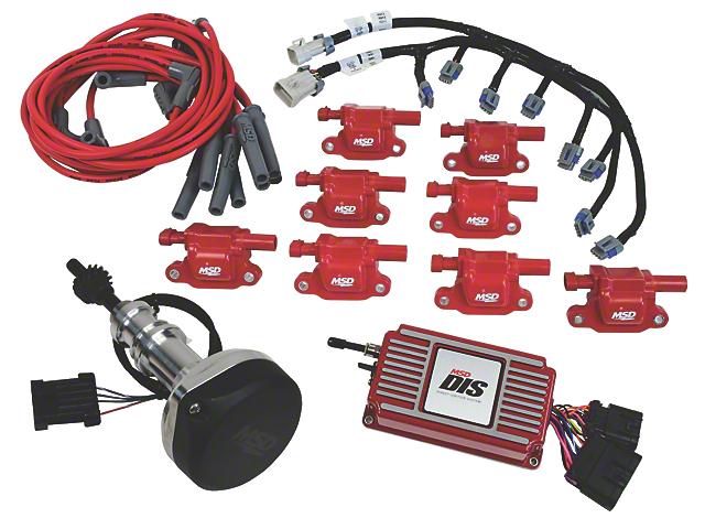 MSD Ignition Conversion Kit; Red (1979 5.0L; 83-85 5.0L)