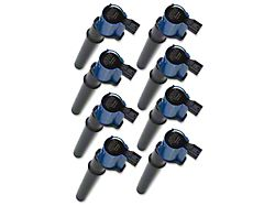 Accel SuperCoil Ignition Coils; Blue; 8-Pack (97-04 Cobra, Mach 1; 07-11 GT500)