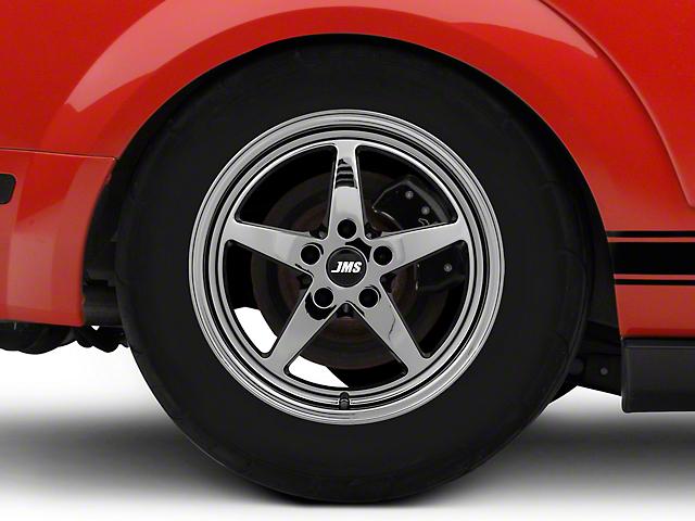 JMS Avenger Series Black Chrome Wheel; Rear Only; 17x10 (05-09 All)