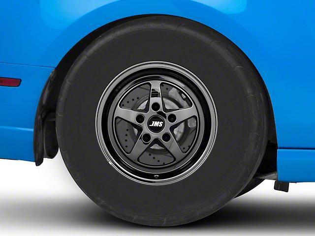 JMS Avenger Series Black Chrome Wheel; Rear Only; 15x10 (10-14 All, Excluding 13-14 GT500)