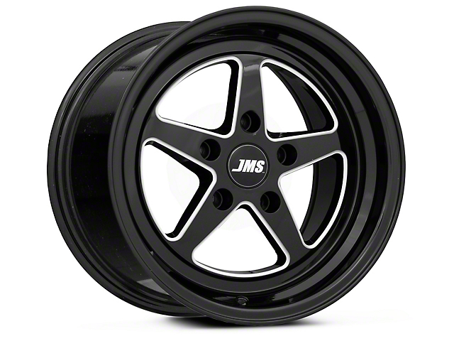 JMS Avenger Series Black Clear with Diamond Cut Wheel; Front Only; 17x4.5 (08-21 All, Excluding AWD, Demon & Hellcat)