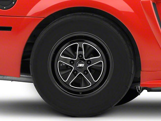 JMS Avenger Series Black Clear with Diamond Cut Wheel; Rear Only; 15x10 (99-04 GT, V6)