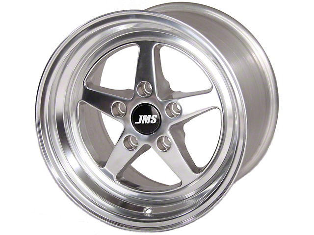 JMS Avenger Series Polished Wheel; Rear Only; 15x10 (08-21 All, Excluding AWD, Demon & Hellcat)