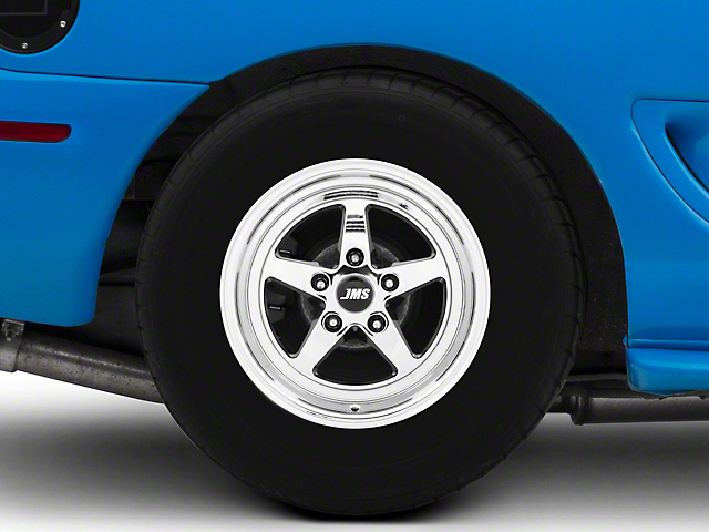 JMS Avenger Series White Chrome Wheel; Rear Only; 15x10 (08-20 All, Excluding AWD, Demon & Hellcat)