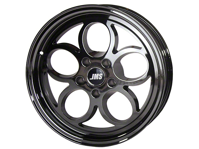 JMS Savage Series Black Chrome Wheel; Rear Only; 15x10 (08-21 All, Excluding AWD, Demon & Hellcat)
