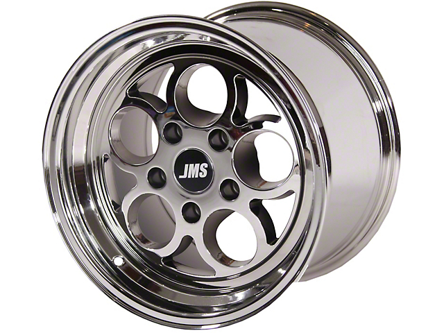 JMS Savage Series White Chrome Wheel; Rear Only; 17x10 (08-21 All, Excluding AWD)