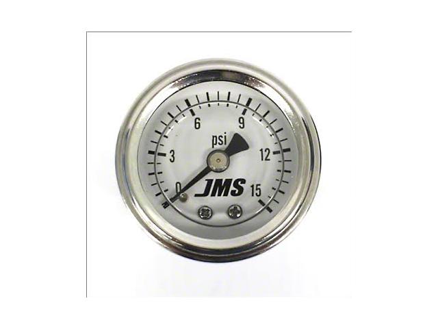 JMS Fuel Pressure Gauge; 0-15 PSI (Universal Fitment)