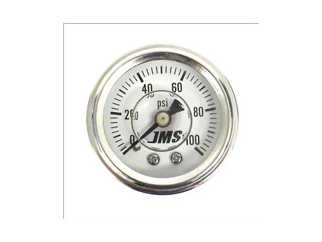 JMS Nitrous Pressure Gauge; 0-100 PSI (Universal Fitment)
