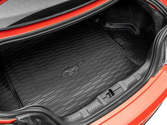 Ford Cargo Area Protector with Embossed Pony Logo; Black (15-21 w/o Subwoofer)