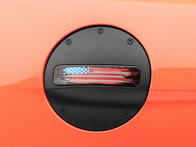 MP Concepts Old Glory Fuel Door; Matte Black (15-21 All)