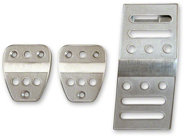 Scott Drake Billet Aluminum Pedal Covers (05-21 w/ Manual Transmission)
