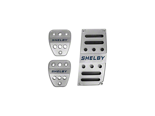 Scott Drake Billet Aluminum Pedal Covers with Shelby Logo (05-21 w/ Manual Transmission)