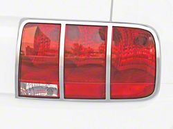 Scott Drake Tail Light Trim; Satin Chrome (05-09 All)