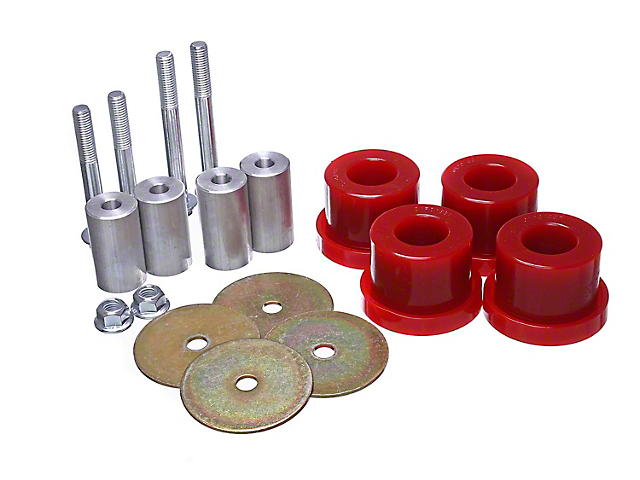 Differential Bushings; Red (15-21 GT, EcoBoost, V6)
