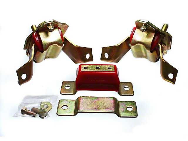 Motor and Transmission Mounts; Red (84-95 5.0L)