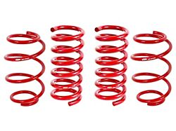BMR Front and Rear Lowering Springs; Performance Version; Red (15-21 w/o MagneRide)