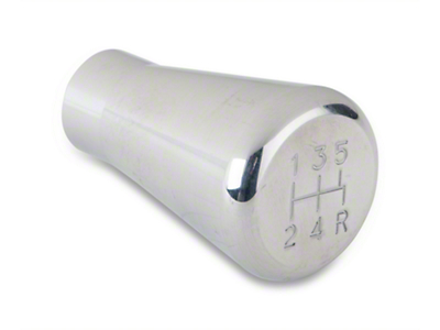 Modern Billet Polished Billet Shift Knob - 5 speed engraved (79-04 All, Excluding 03-04 Cobra)
