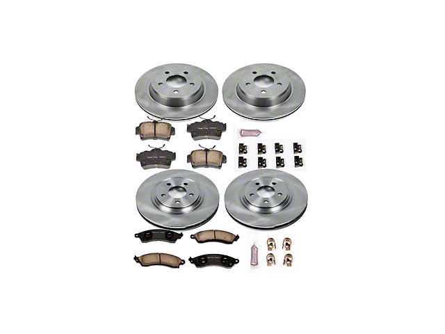 Power Stop OE Replacement Brake Rotor and Pad Kit; Front and Rear (94-04 Cobra, Bullitt, Mach 1)
