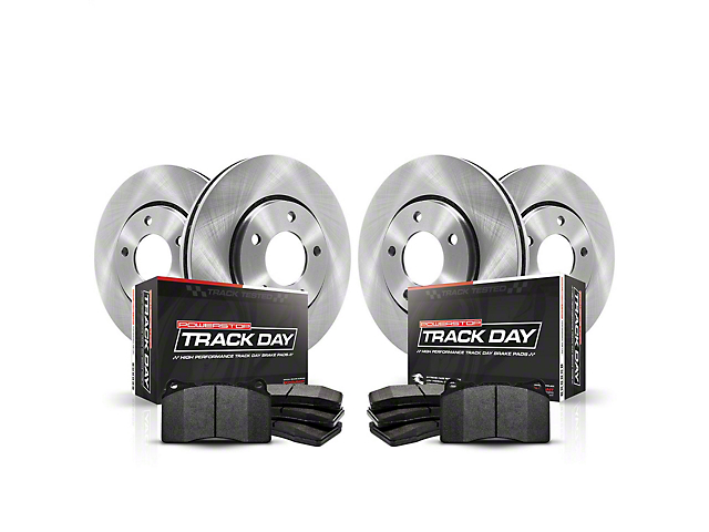 Power Stop Track Day Brake Rotor and Pad Kit; Front and Rear (94-04 Cobra, Bullitt, Mach 1)