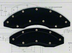 Apex Overlay Gen III Black Brake Caliper Overlays; Front and Rear (05-14 Standard GT, V6)
