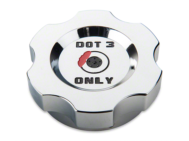 Modern Billet Brake Fluid Cap Cover; Chrome (05-14 All, Excluding 13-14 GT500)