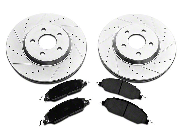 C&L Super Sport Brake Rotor and Pad Kit; Front (05-10 GT)