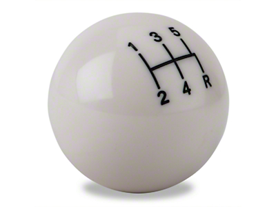 Modern Billet Retro Style 5-Speed Shift Knob - White (79-04 All, Excluding 03-04 Cobra)