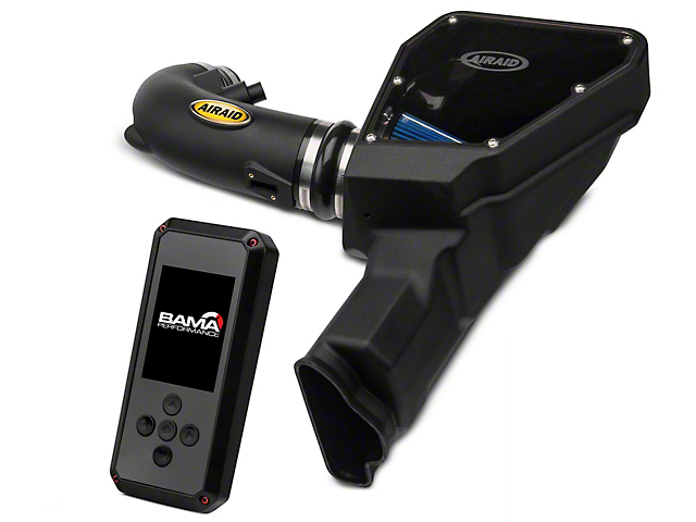 Airaid MXP Series Cold Air Intake with Blue SynthaMax Dry Filter and BAMA Rev-X Tuner (15-17 GT)