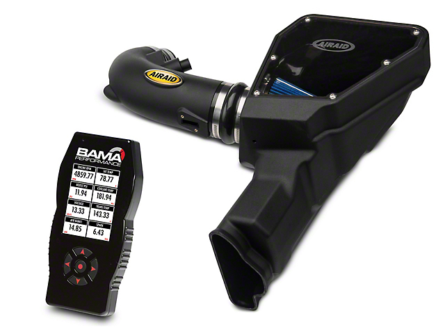 Airaid MXP Series Cold Air Intake with Blue SynthaMax Dry Filter and BAMA X4/SF4 Power Flash Tuner (15-17 GT)