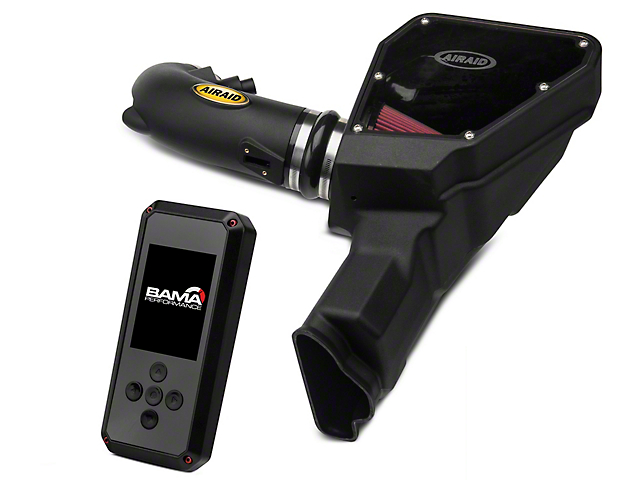 Airaid MXP Series Cold Air Intake with Red SynthaMax Dry Filter and BAMA Rev-X Tuner (15-17 GT)