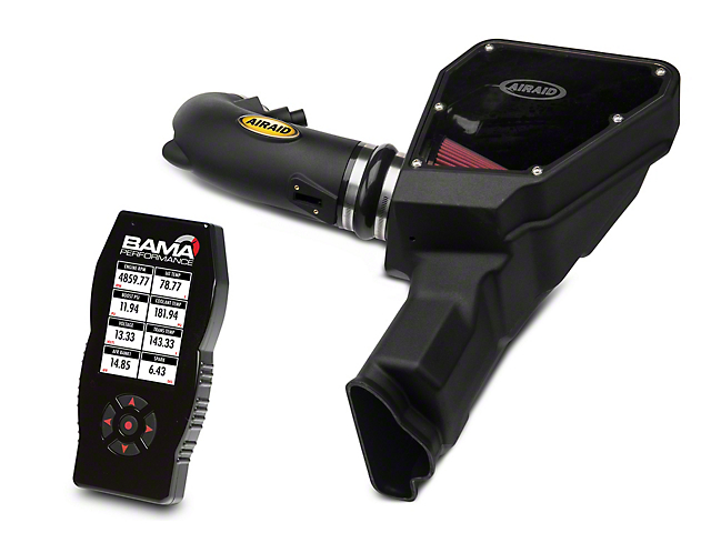 Airaid MXP Series Cold Air Intake with Red SynthaMax Dry Filter and BAMA X4/SF4 Power Flash Tuner (15-17 GT)