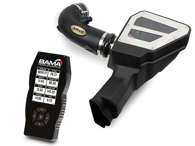 Airaid MXP Series Cold Air Intake with SynthaFlow Oiled Filter and BAMA X4/SF4 Power Flash Tuner (15-17 GT)
