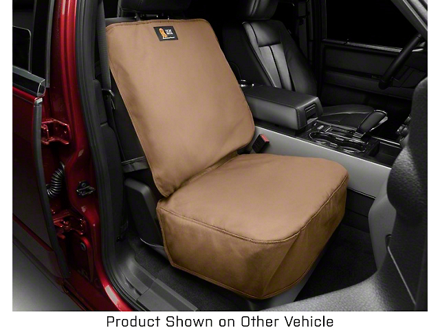 Weathertech Front Seat Protector; Tan (05-21 Tacoma w/ Bucket Seats)