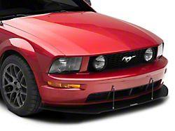 DR Style Front Bumper Lip Splitter; Textured Black (05-09 GT, V6)