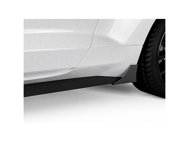 V1R Pro Style Rocker Panel Winglets; Textured Black (15-21 GT, EcoBoost, V6)