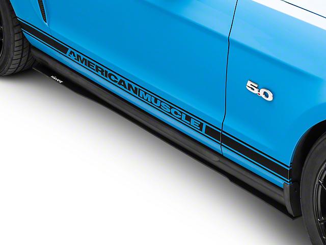 V1R Style Side Skirt Splitters; Textured Black (05-14 All)