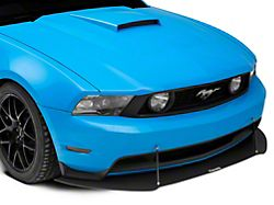 V3R Style Front Chin Splitter; Textured Black (10-14 GT, V6)