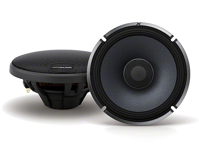 Alpine X-Series Coaxial 2-Way Speakers; 110W; 6.50-Inch (Universal Fitment)