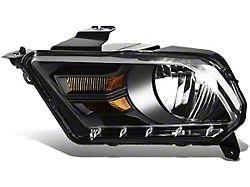 OE Style Headlight; Black Housing; Clear Lens; Driver Side (10-12 w/ Factory Halogen Headlights)