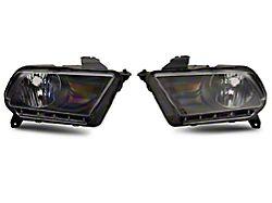 OE Style Headlights; Black Housing; Clear Lens (10-12 w/ Factory Halogen Headlights)