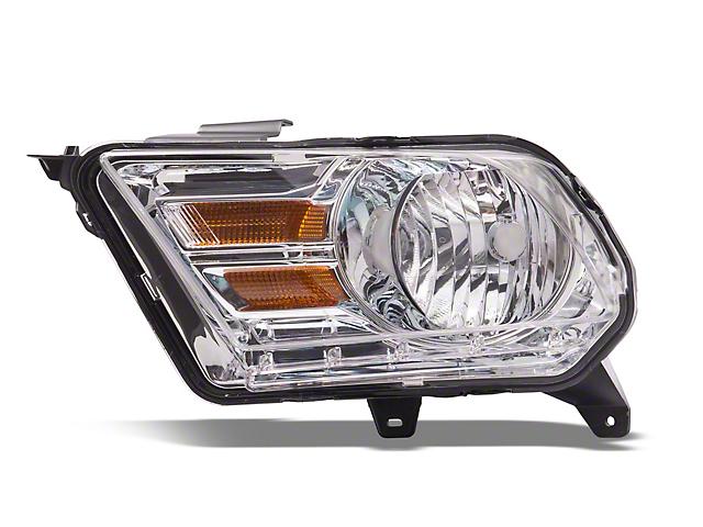 OE Style Headlights; Chrome Housing; Clear Lens (10-12 w/ Halogen Headlights)