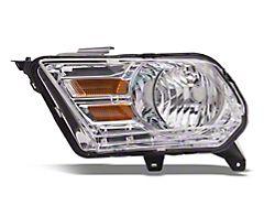 OE Style Headlights; Chrome Housing; Clear Lens (10-12 w/ Factory Halogen Headlights)