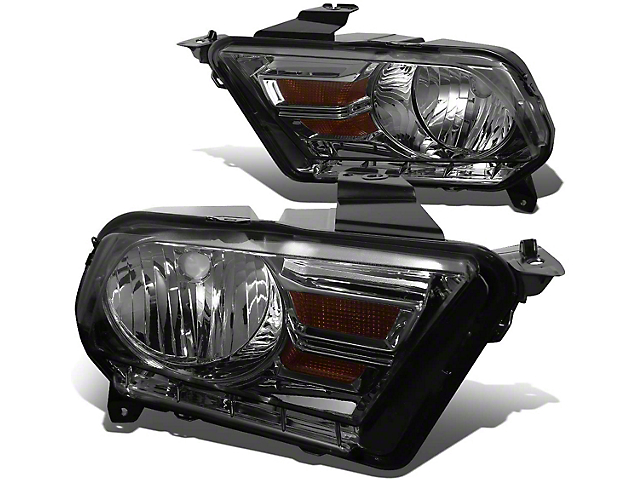 OE Style Headlights; Chrome Housing; Smoked Lens (10-12 w/ Halogen Headlights)