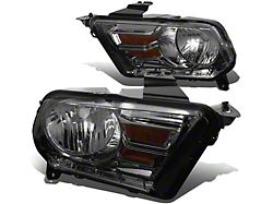 OE Style Headlights; Chrome Housing; Smoked Lens (10-12 w/ Factory Halogen Headlights)