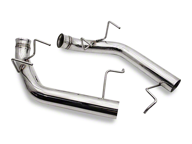 C&L Muffler Delete Axle-Back Exhaust with Polished Tips (11-14 GT)
