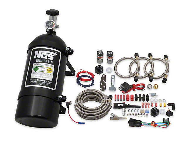 NOS Single Fogger Wet Nitrous System; Black Bottle (12-17 V6; 11-21 GT)