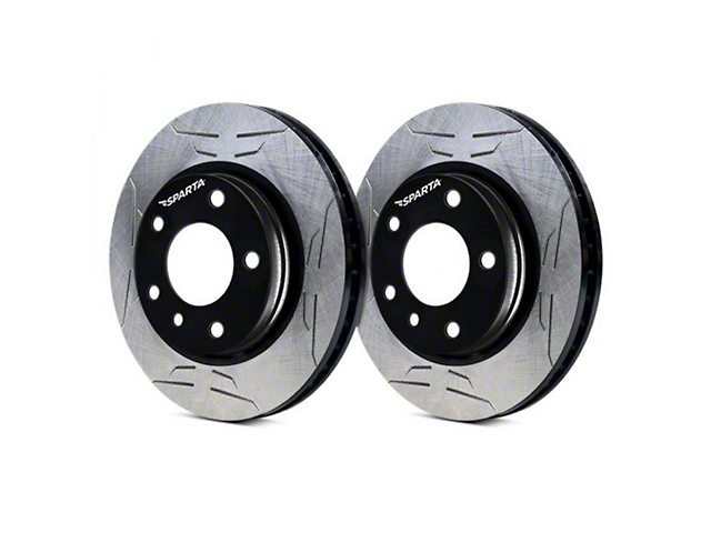 Sparta Evolution GP1 1-Piece Slotted Rotors; Front Pair (05-10 V6)