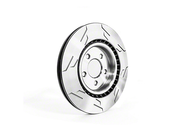 Sparta Evolution GP1 1-Piece Slotted Rotors; Front Pair (13-14 GT500)